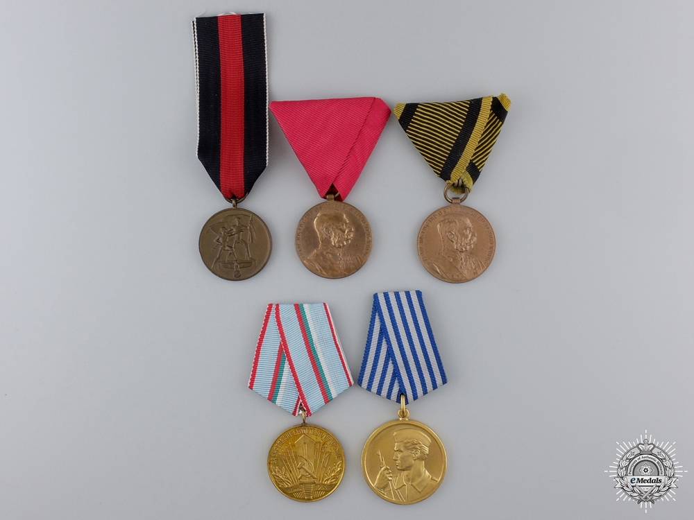 Five European Medals & Awards