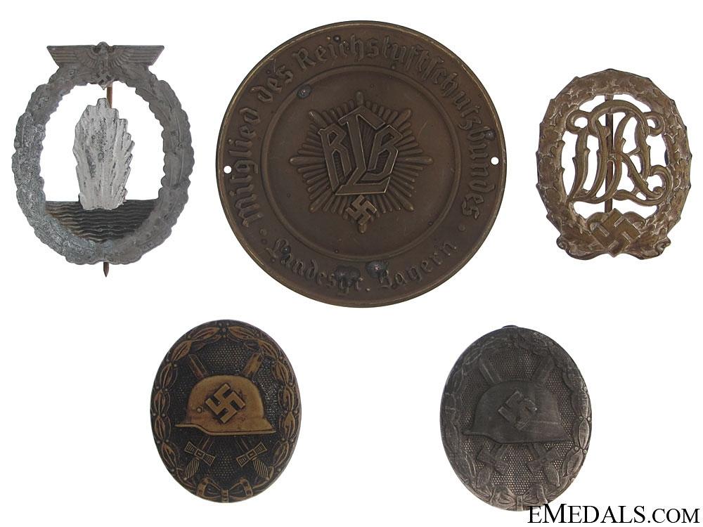 Five German Badges