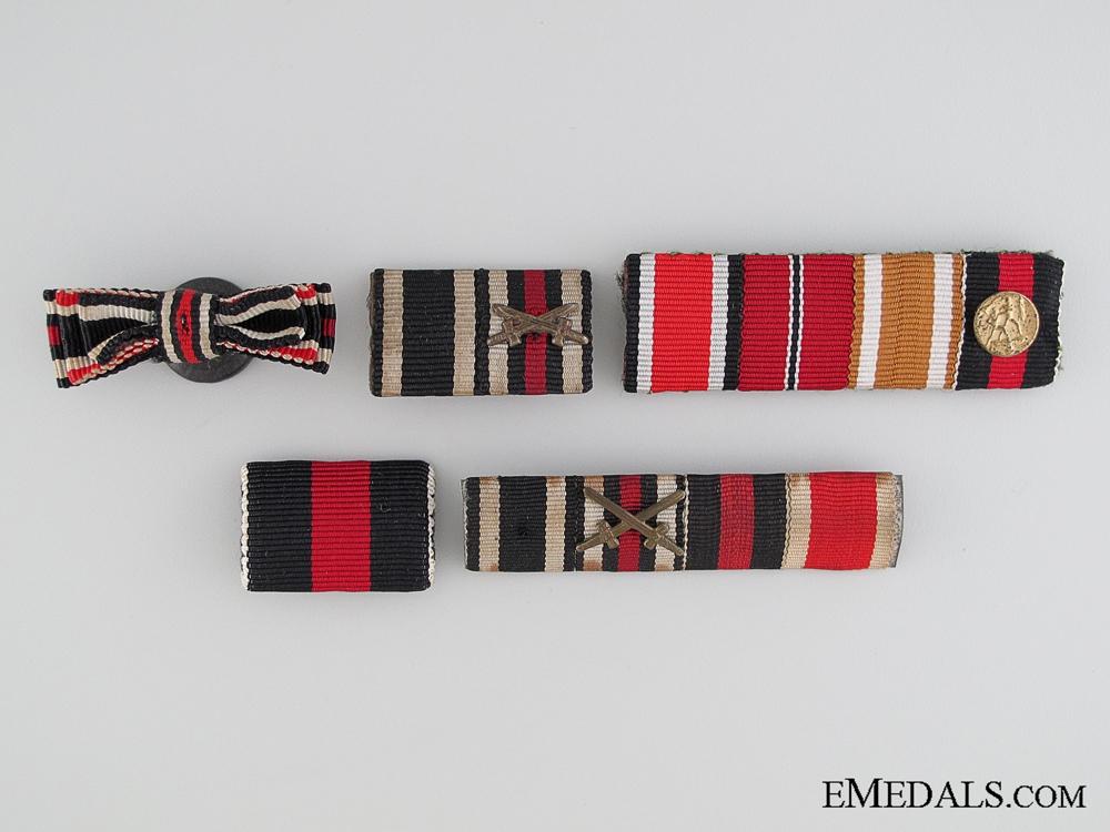 Five German Ribbon Bars