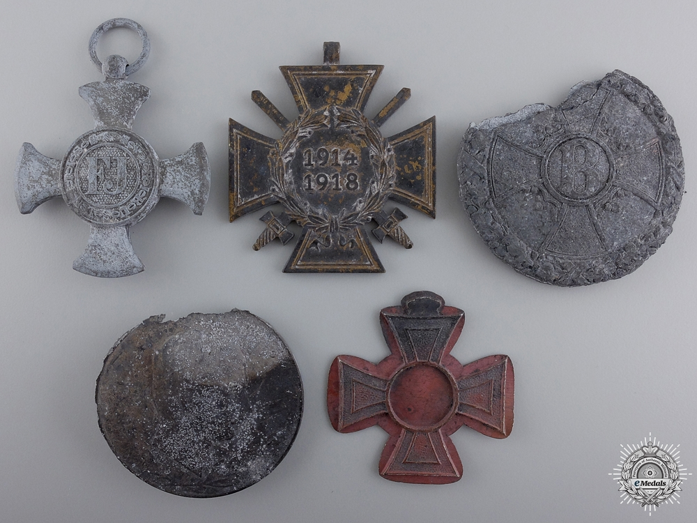 Five Medals & Awards Recovered from the Zimmermann Factory