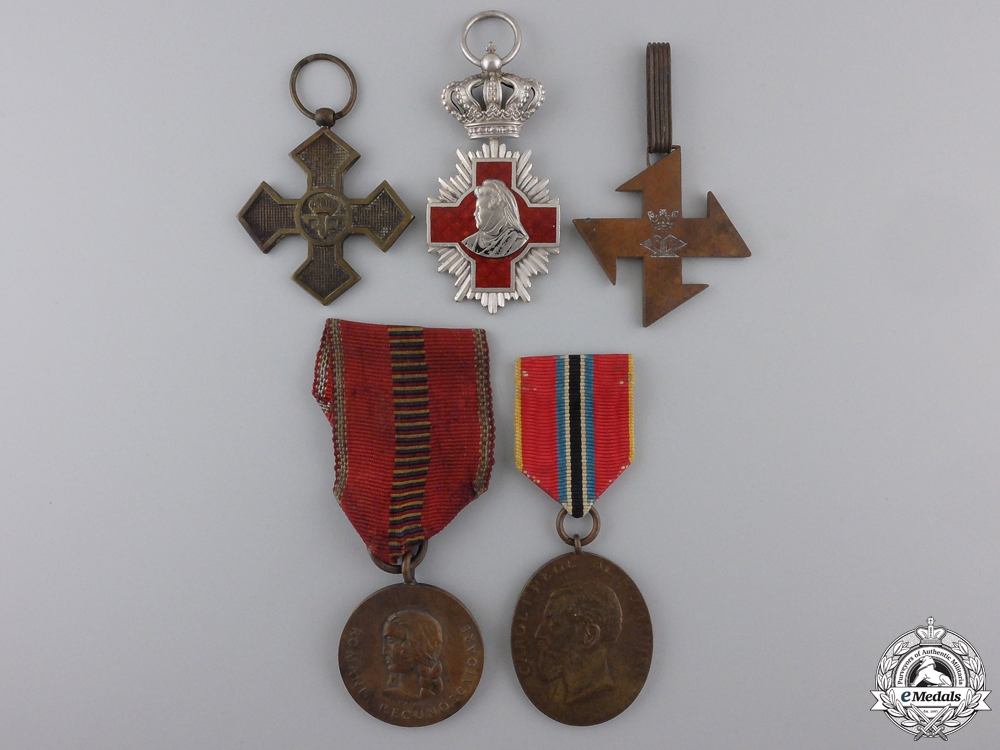 Five Romanian Orders, Medals, Awards