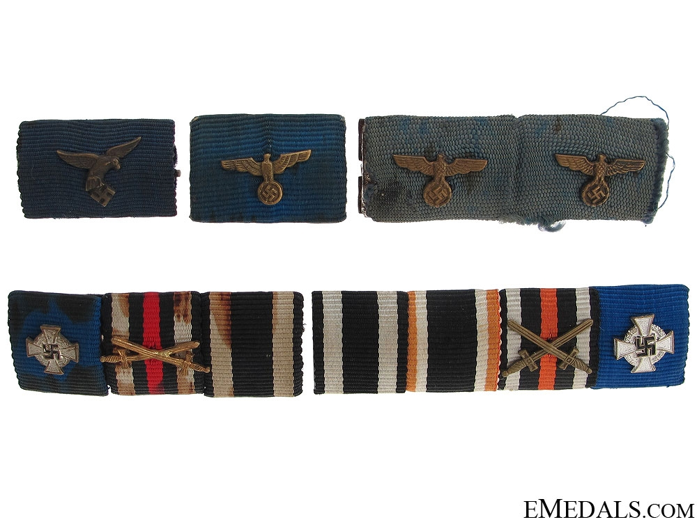 Five Third Reich Ribbon Bars