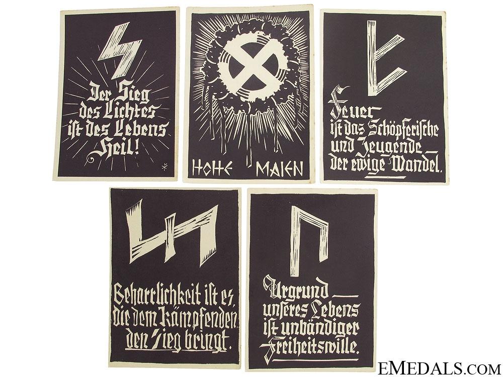 Five WWII German Postcards