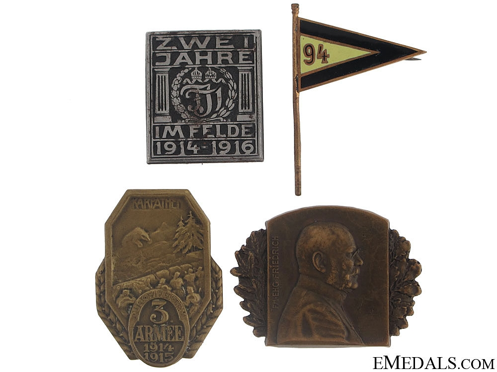 Four Austrian Badges and Pins