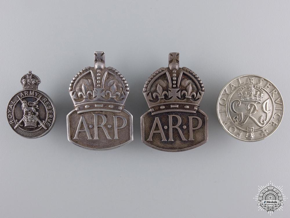 Four British Service Badges