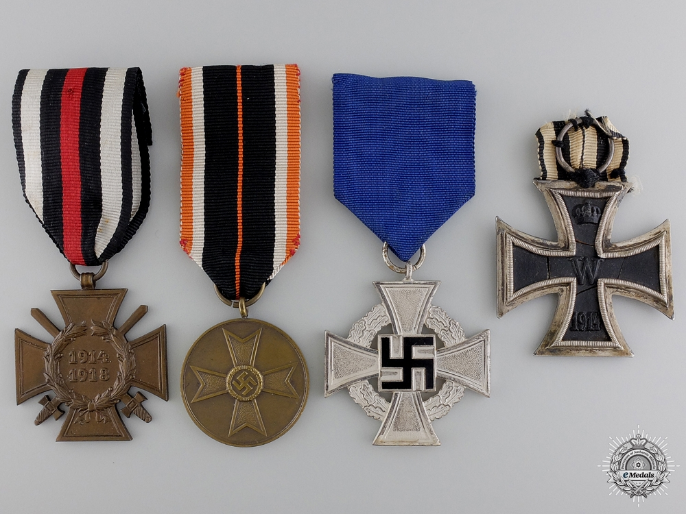 Four First and Second War German Awards