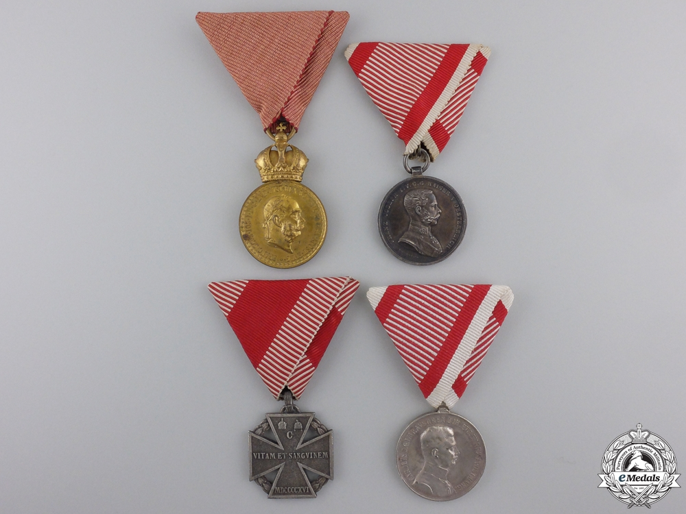 Four First War Austrian Medals and Awards