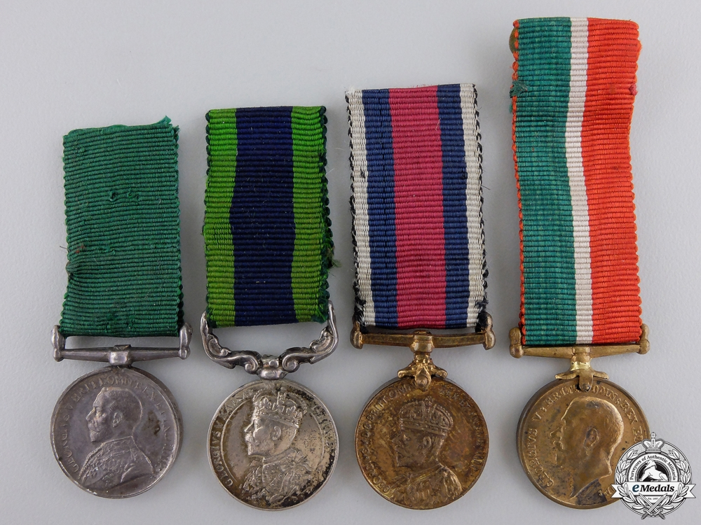 Four First War Period British Miniature Medals
