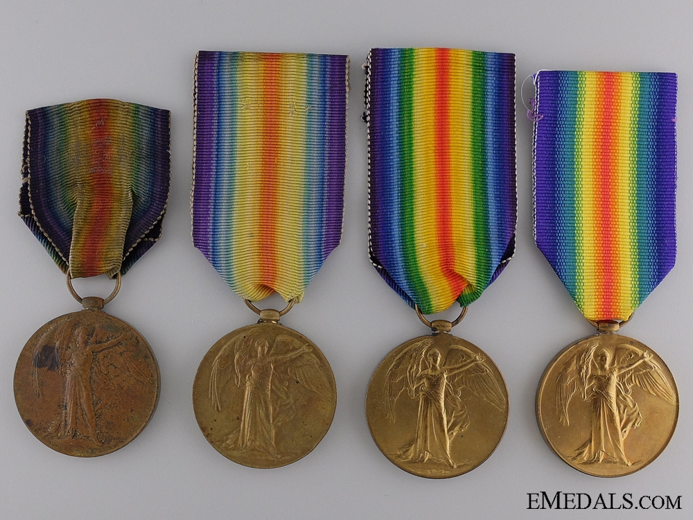 Four First War Victory Medals to the Royal Artillery