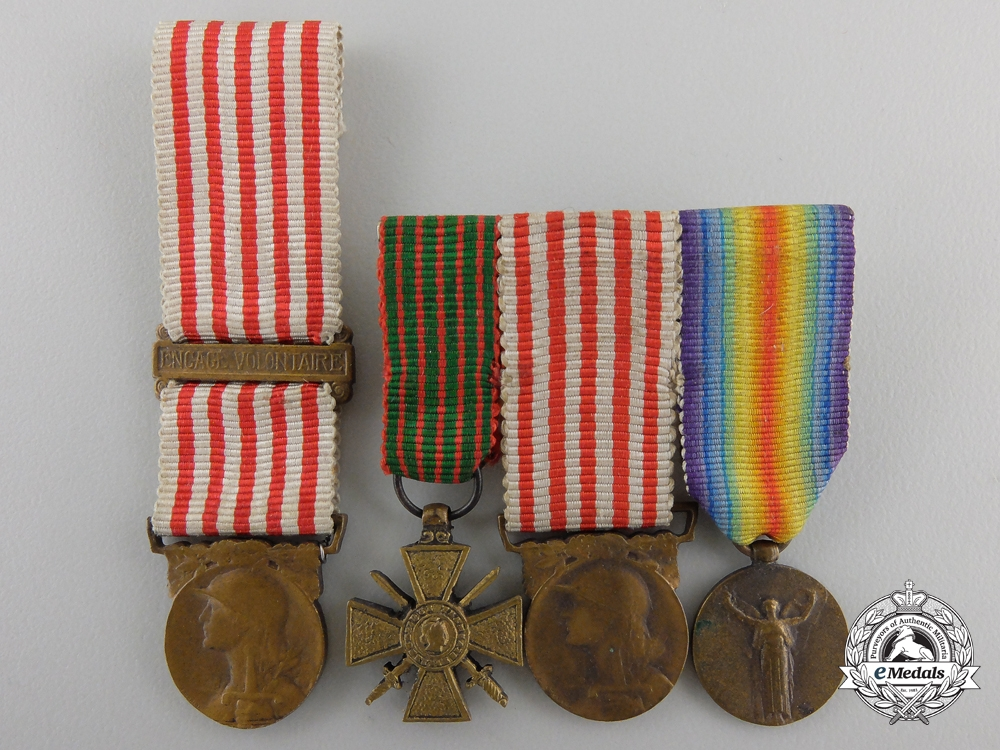 Four French First War Miniature Medals