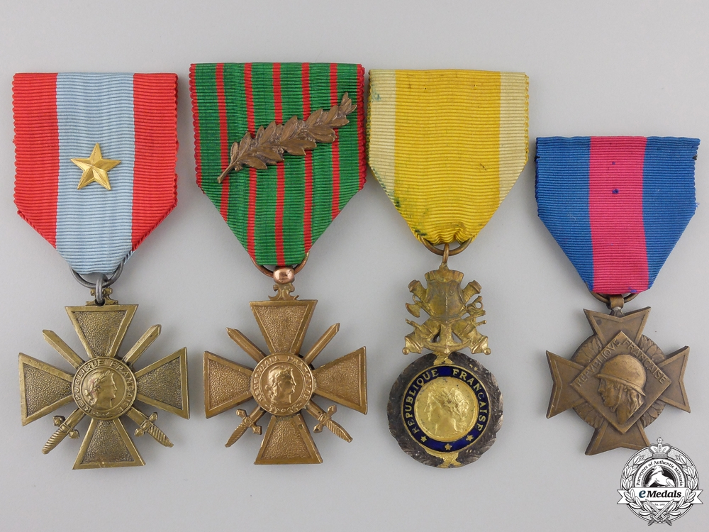 Four French Medals and Awards