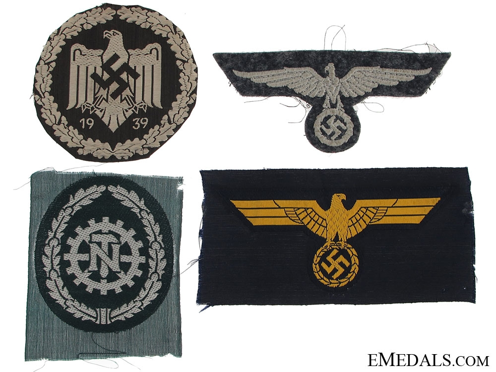 Four German Cloth Badges