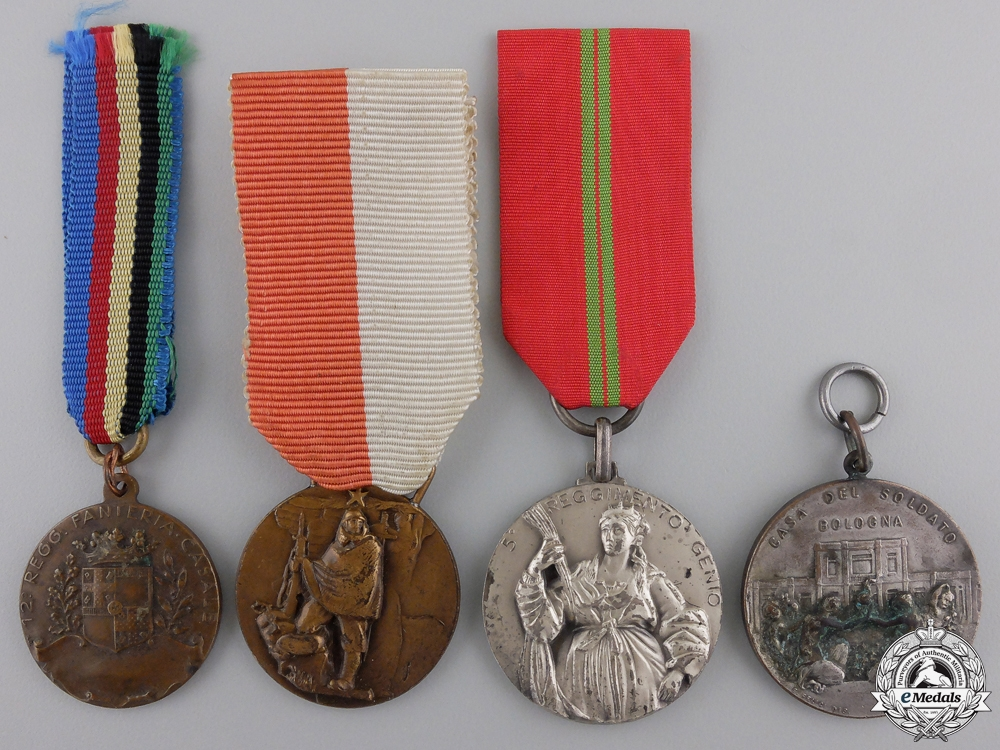 Four Italian Regimental Medals