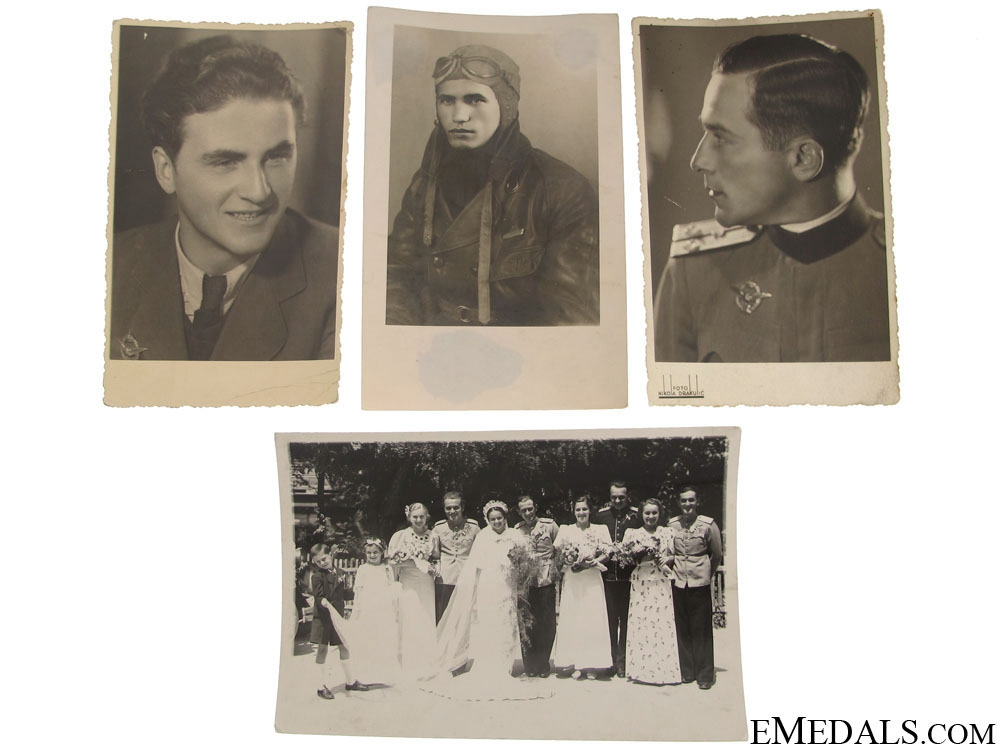 Four Photographs of Royal Yugoslav Pilots