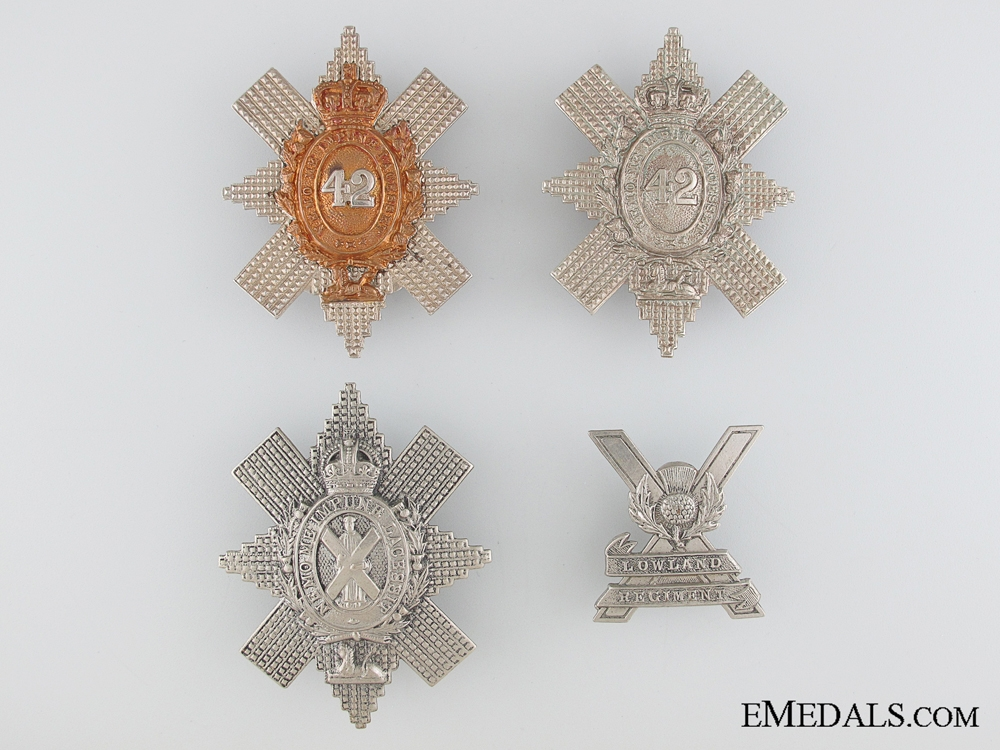 Four Scottish Glengarry Badges