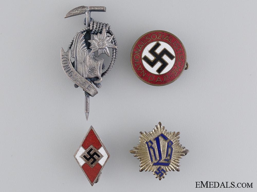 Four Second War Period German Badges