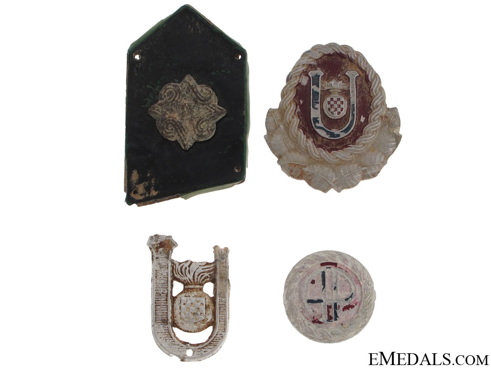 Four Ustasha Insignia Pieces