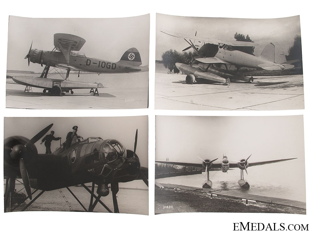 Four WWII Seaplane Photographs