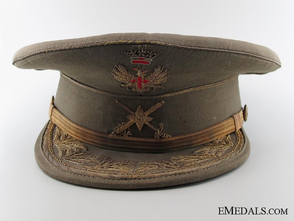 Franco Regime General's Visor Named to a Blue Division Veteran