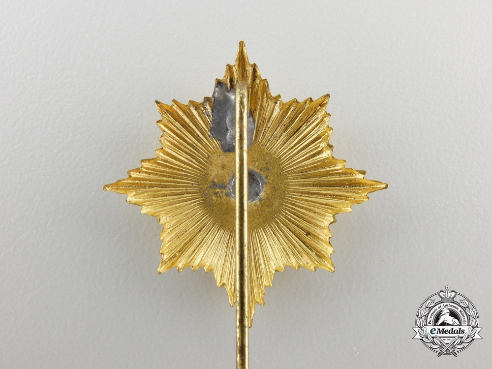 A Miniature Order of the Black Eagle Breast Star Pin