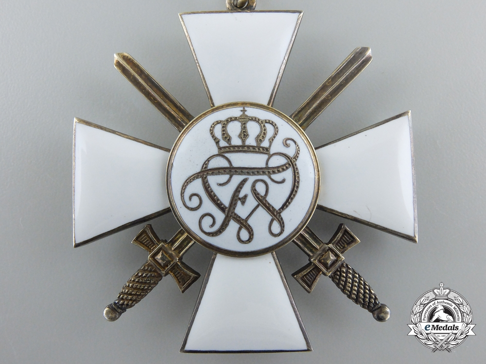 A Prussian Order of the Red Eagle; Second Class with Swords by Godet