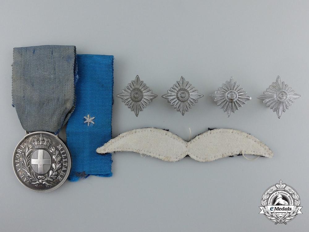 A Second War Italian Al Valore Militarie to a German Pilot & Honor Goblet Winner