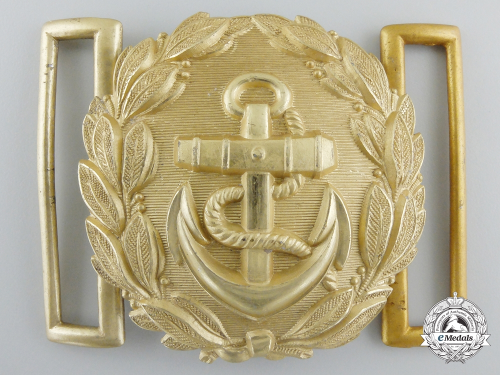 A Kriegsmarine Line Officer's Buckle; Published Example