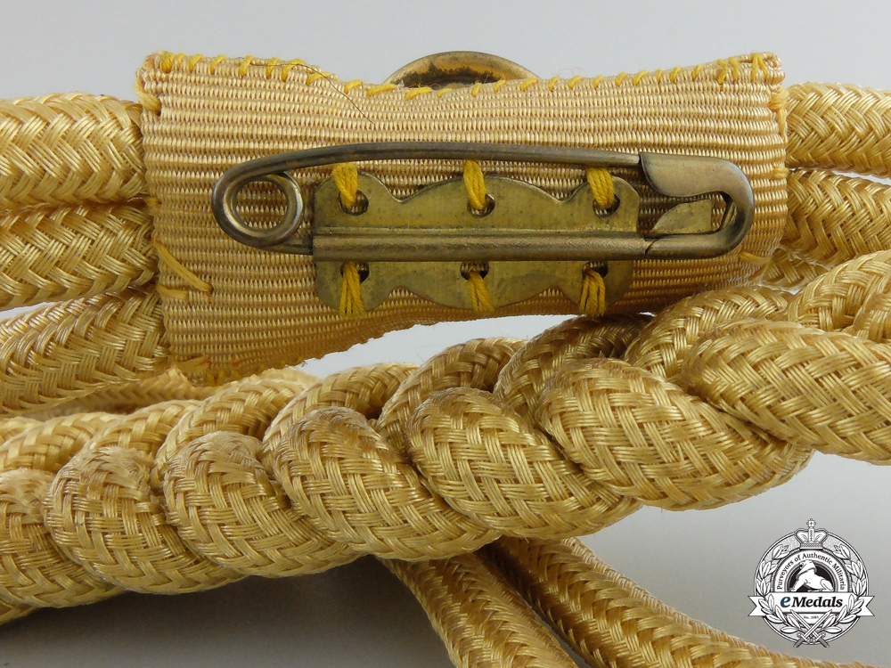 An NSDAP Aiguillette with RZM Control Tag