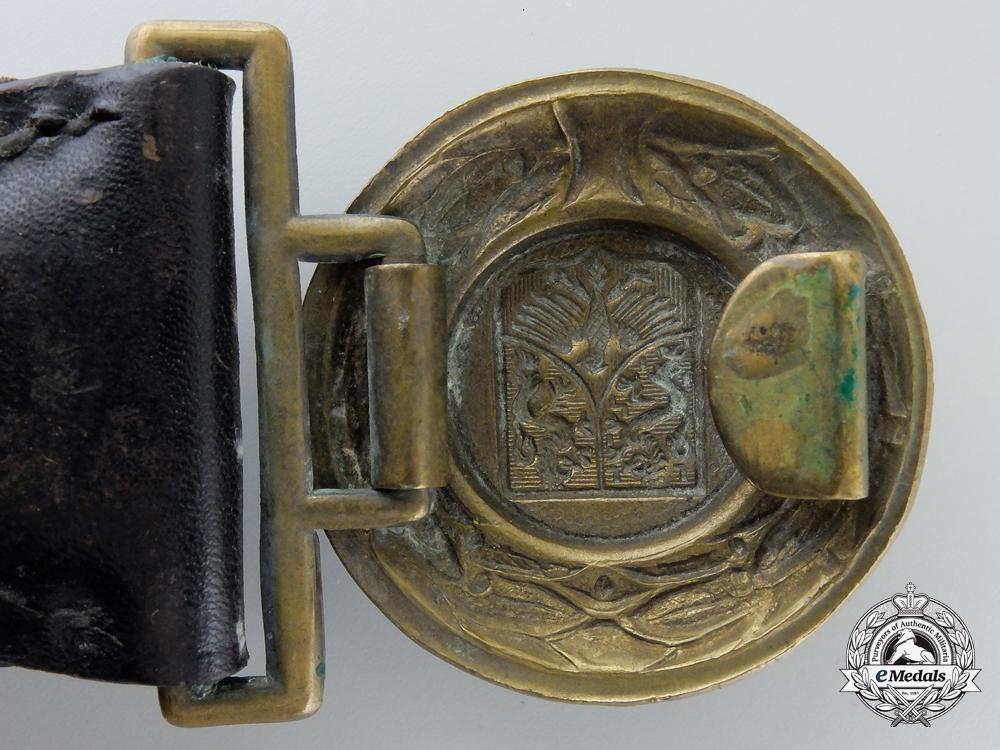A Hessen Nassau Officer's Fire Defense Belt & Buckle