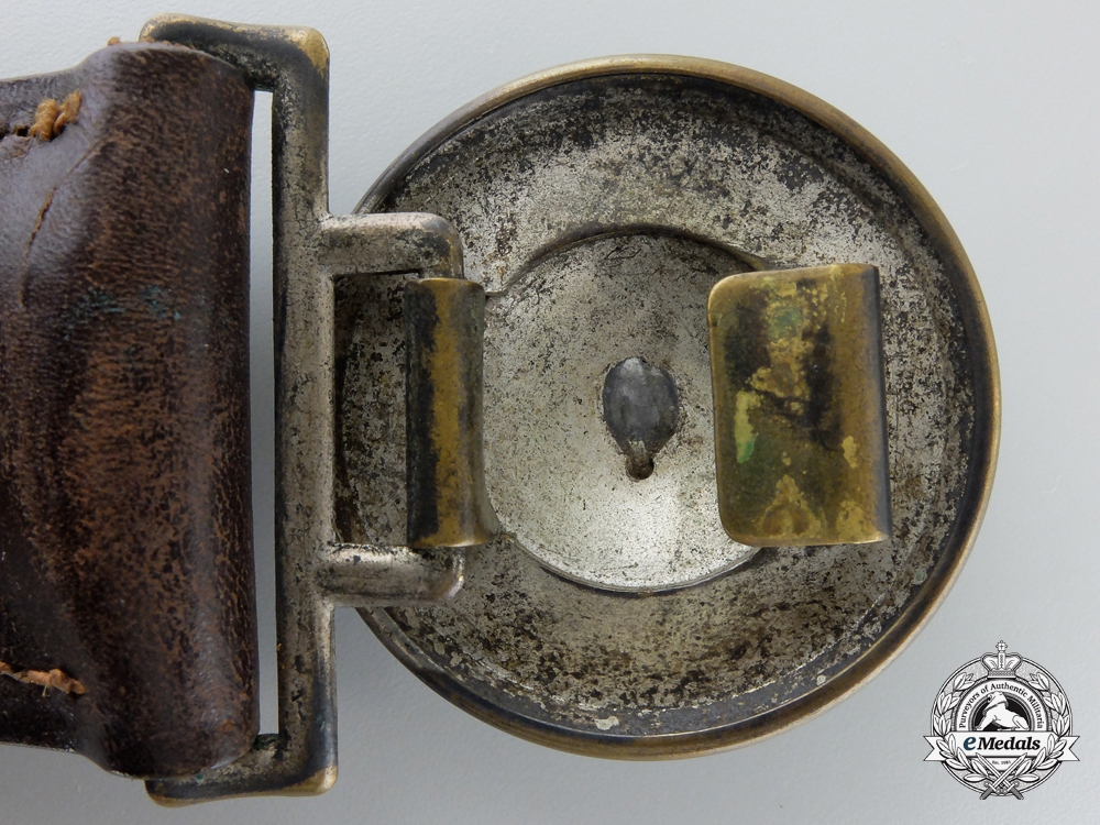 A Pre 1934 Fire Defense Officer Buckle with Belt; Published Example