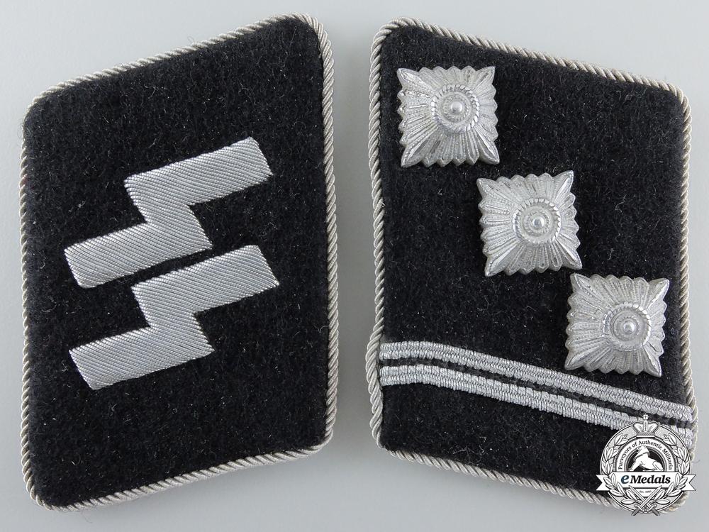 A Set of Waffen-SS Obersturmführer Collar Tabs