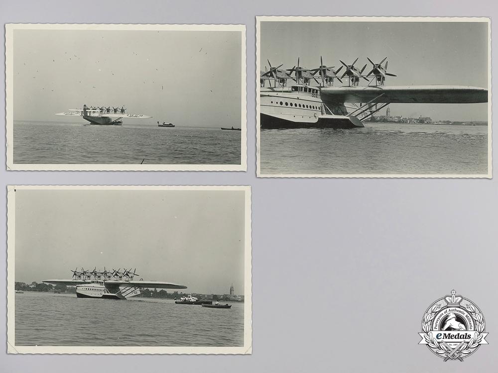 Five Original Photographs of Rare German Plane Dornier Do X