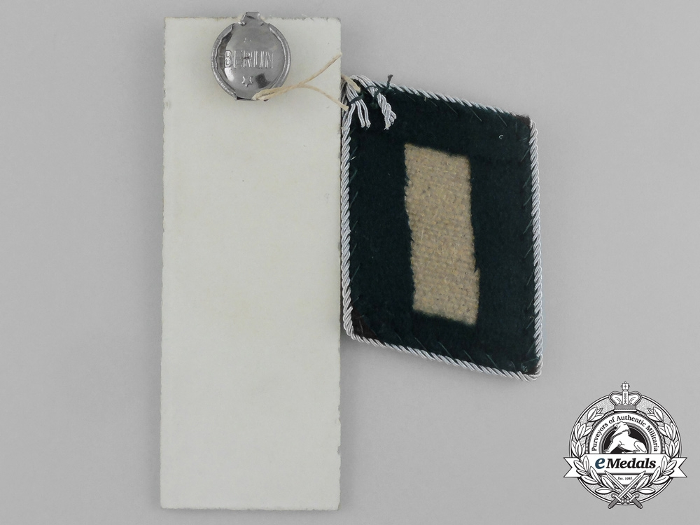 A Mint & Unissued Set of Forst Referrendar Collar Tabs by Thile & Steinert; Dated 1941