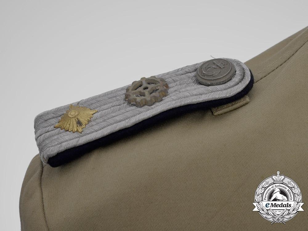A Second War Kriegsmarine Oberleutnant Tropical Engineer's Tunic 1943
