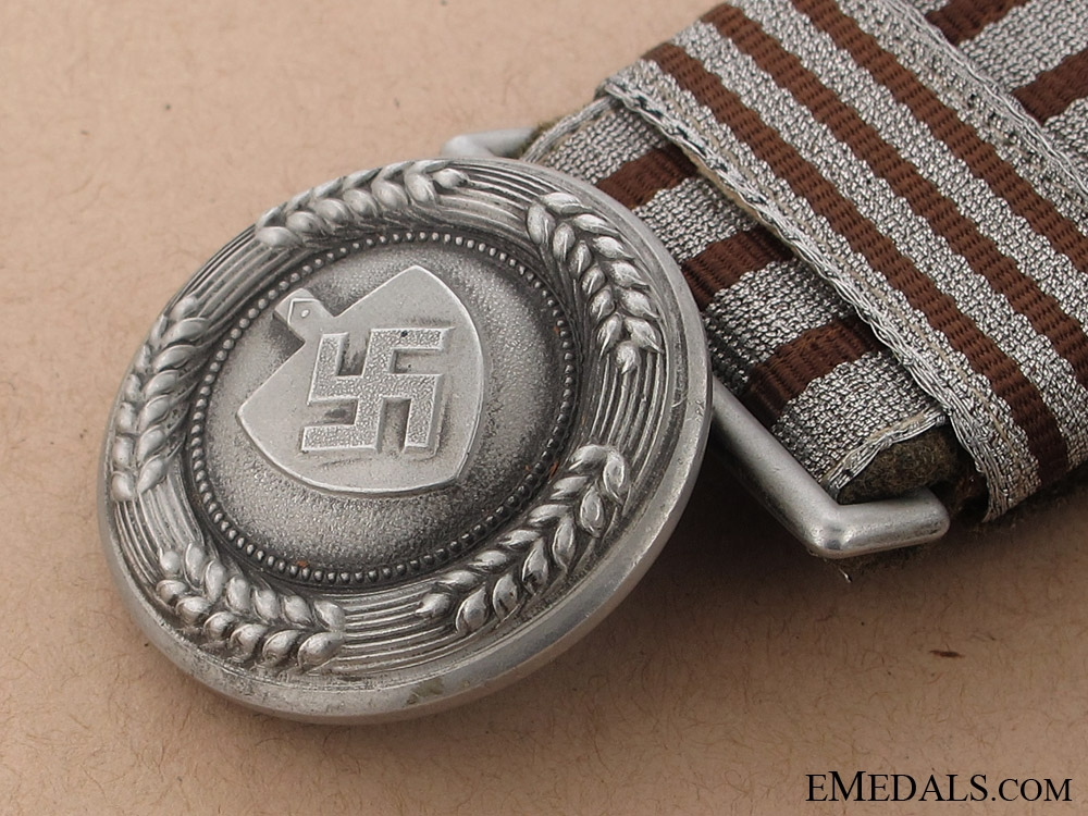 A RAD Officers Brocade Belt and Buckle