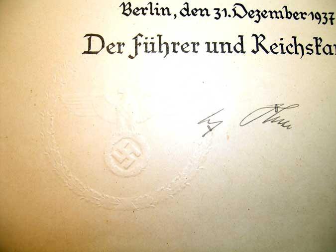 A. HITLER / H. GORING ORIGINAL SIGNATURES