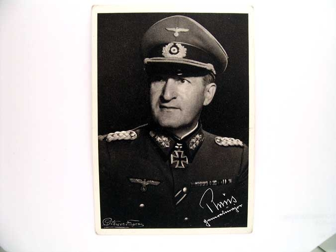 ORIGINAL SIGNED PHOTO, ERHARD RAUS