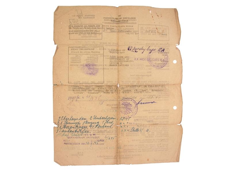 Two Award Documents, Obergefreiten