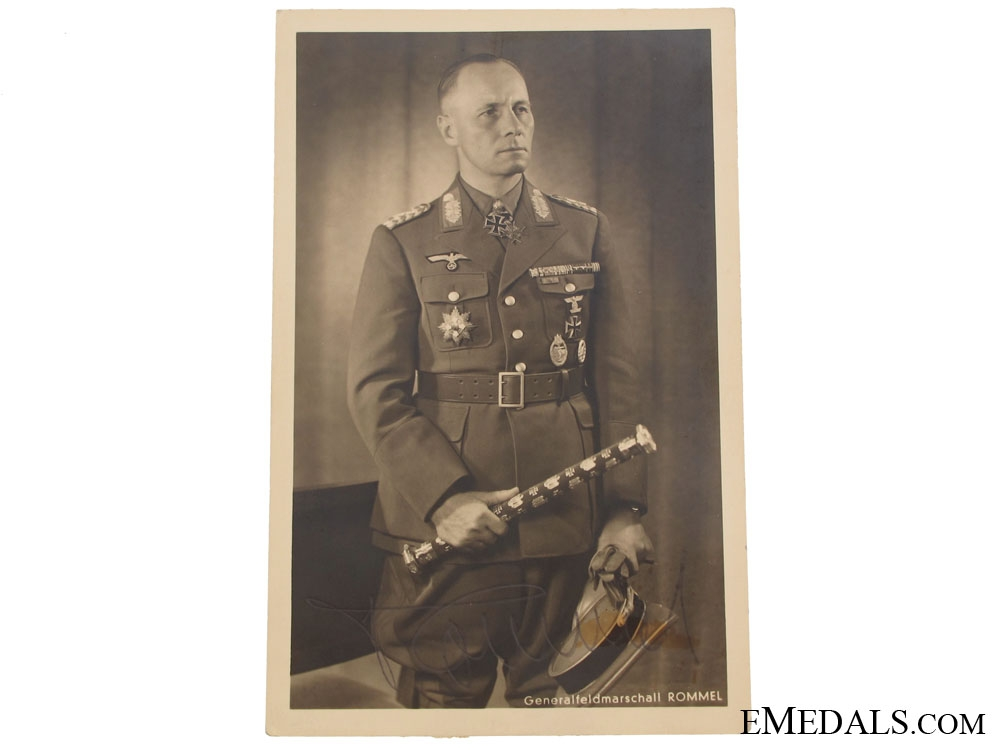 Signed Postcard - Generalfieldmarschall Erwin Rommel