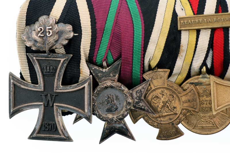 1870 Iron Cross - 8 Medal Group