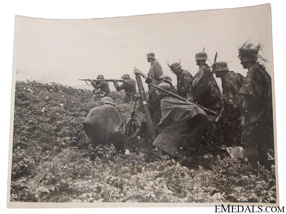 German Army Combating Partisans Photograph