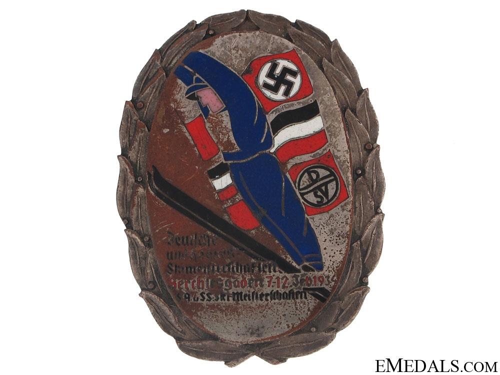 German SA-SS Ski Competition Badge, 1934