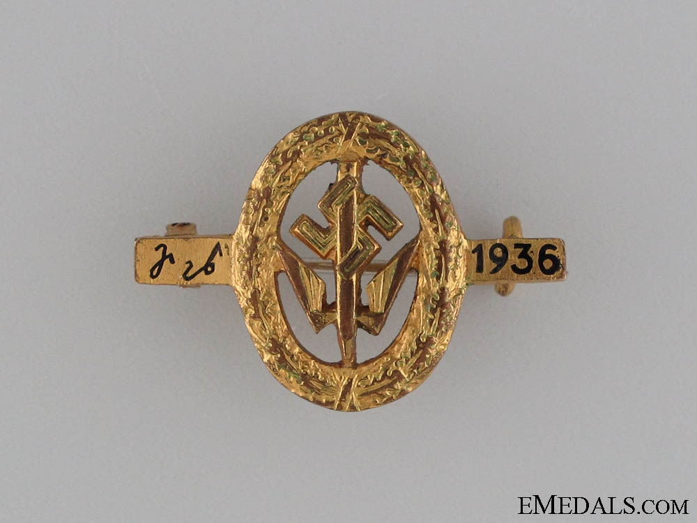German Stenographer's Association Award Pin 1936