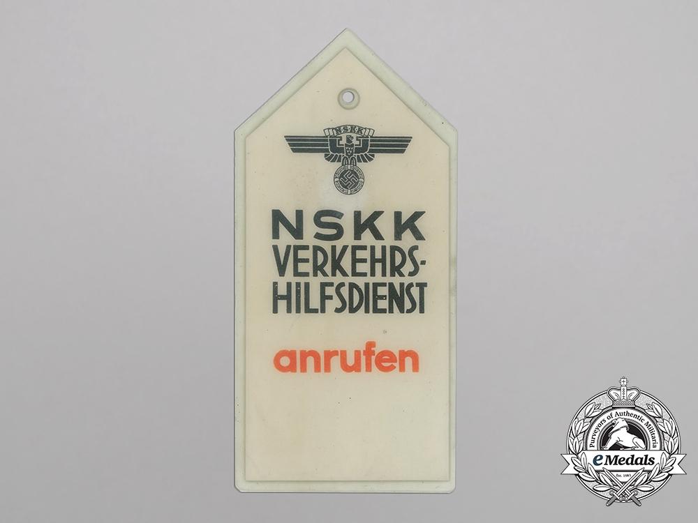 an nskk road assistance vehicle tag germany europe. Black Bedroom Furniture Sets. Home Design Ideas