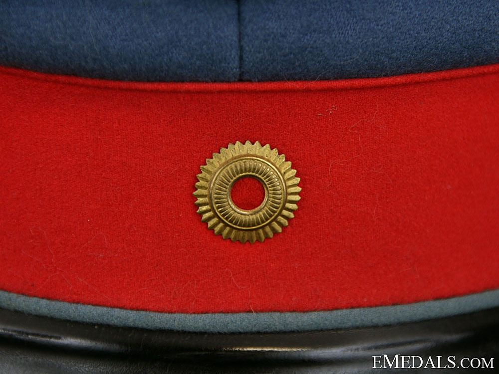 A First War Baden Dragoon Regiment Peaked Cap, Named