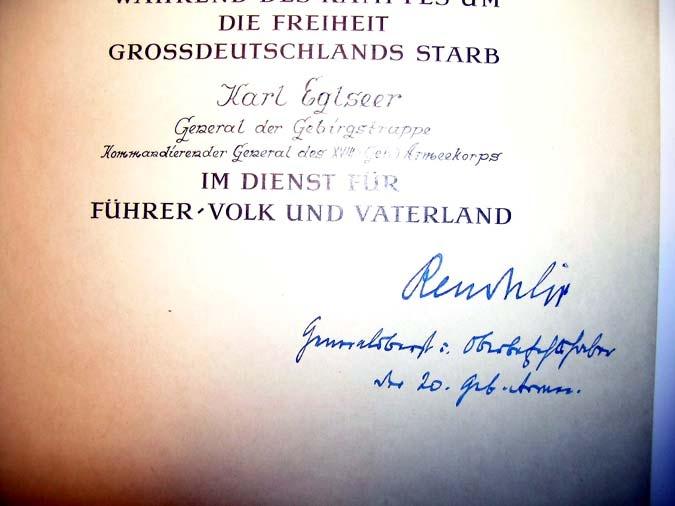 Karl Eglseer, General der Gebirgstruppe,