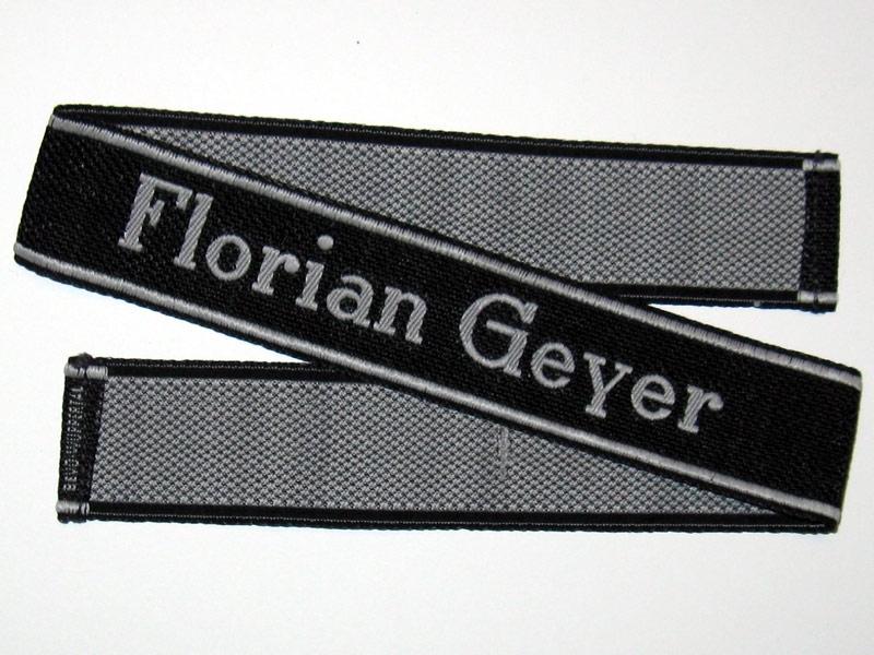 """Waffen-SS Cufftitle """"Florian Geyer"""","""