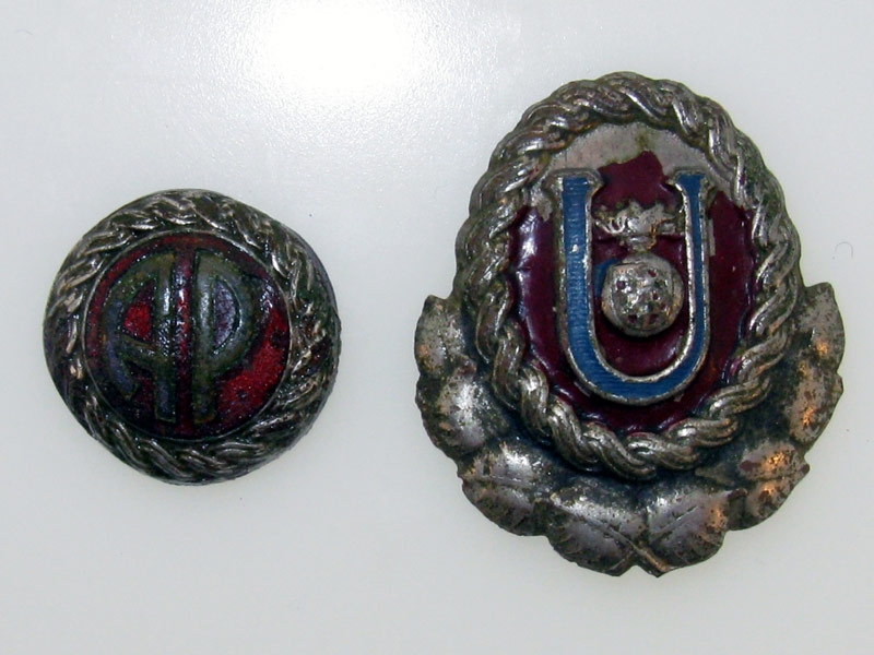 Croatia, Ustasha Officer Cap Badges