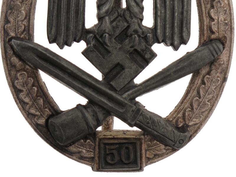 "General Assault Badge ""50"""