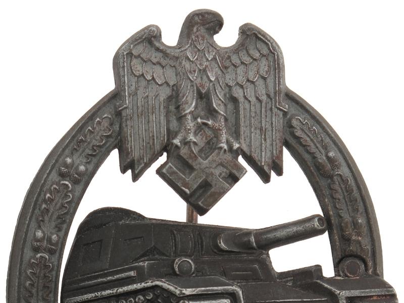 "Tank Assault Badge, Silver Grade, ""50""."
